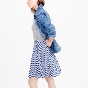 J. Crew Skirts - J. Crew Blue and White Gingham Skirt